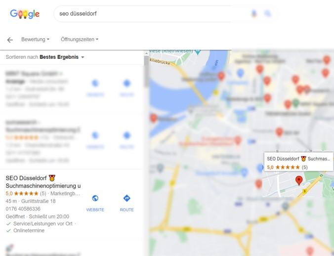 SEO Düsseldorf Google 1st